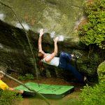 Bouldering w lasach Boru- Czechy.